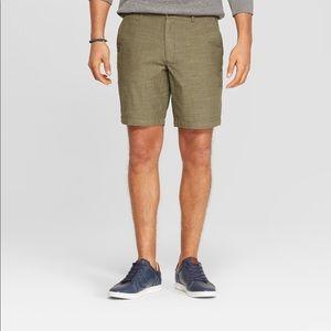 Men's green flat front linden shorts